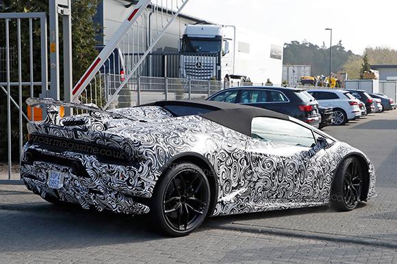 Lamborghini в этом 2017г. представит открытую версию Huracan Performante