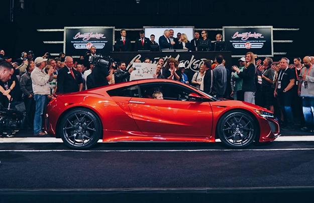 Первое купе Acura NSX оценили в 1 млн 200 тысяч долларов