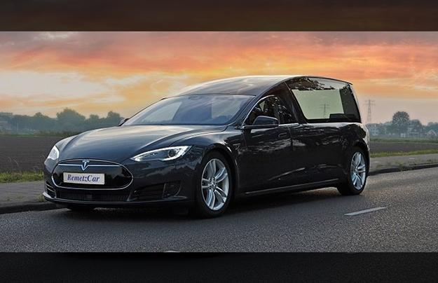 Набазе Tesla Model Sпостроили 1-ый катафалк