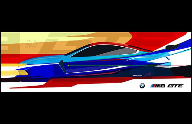БМВ показали скетчи гоночного M8 GTE