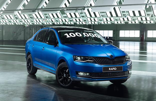 В Российской Федерации выпущен 100-тысячный автомобиль Шкода Rapid