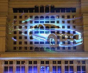 3D  шоу Jaguar на Манежной площади